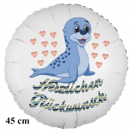 Happy Birthday Seehund Kindergeburtstag Luftballon mit Helium