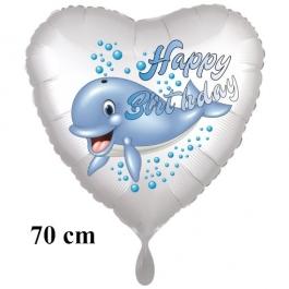 Happy Birthday Wal zum Kindergeburtstag großer Luftballon mit Helium