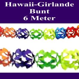 Hawaii-Girlande-Bunt, 6 Meter lang