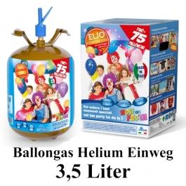 Helium Ballongas Einweg-Behälter 3,5 Liter