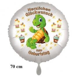 Herzlichen Glückwunsch Großer Kindergeburtstag Luftballon mit Schildkröte
