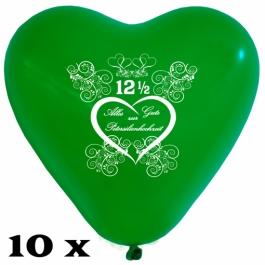 Herzluftballons zur Petersilienhochzeit, 10 Stück, 28-30 cm Latexballons