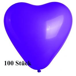 Herzluftballons Mini, 8-12 cm, lila, 100 Stück
