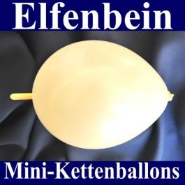 Kleine Kettenballons, Girlanden-Luftballons Mini, Elfenbein-Metallic