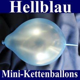 Kleine Kettenballons, Girlanden-Luftballons Mini, Hellblau-Metallic