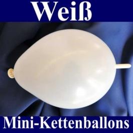 Kleine Kettenballons, Girlanden-Luftballons Mini, Weiß-Metallic