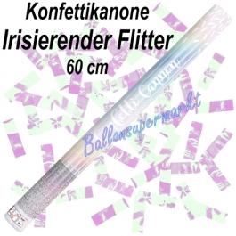 Konfettikanone mit irisierendem Flitter-Konfetti, 60 cm