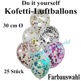 Konfetti-Luftballons Do it yourself, 25 Stück