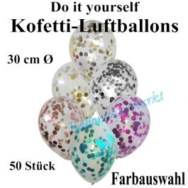 Konfetti-Luftballons Do it yourself, 50 Stück