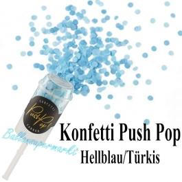 Konfetti Push Pop, hellblau/türkis
