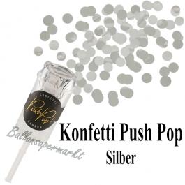 Konfetti Push Pop, silber
