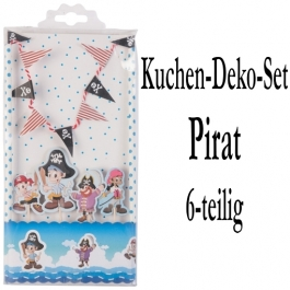 Torten Dekorations Set  Pirat, Kuchendekoration