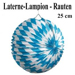Laterne-Lampion Rauten, Oktoberfest, 25 cm