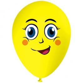 Luftballon Gesicht, lächelnder Emoji, 1 Stück