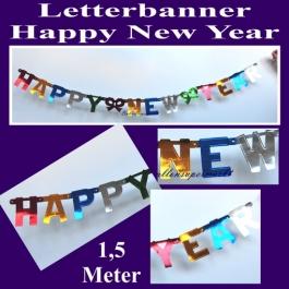 Buchstabengirlande, Letterbanner, Silvester, Neujahr, Happy New Year