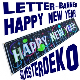 Silvester Dekoration Letterbanner Happy New Year