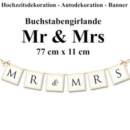 Letterbanner Mr & Mrs