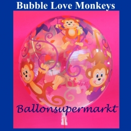 Bubble Love Monkeys Luftballon mit Helium