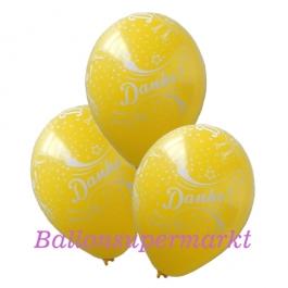 Motiv-Luftballons Danke, zitronengelb