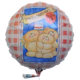 Luftballon aus Folie zum 18. Geburtstag, Time to celebrate, you are 18