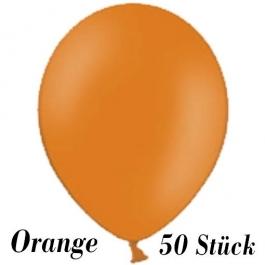 Luftballons 23 cm, Orange, 50 Stück