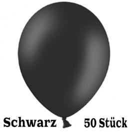 Luftballons 23 cm, Schwarz, 50 Stück