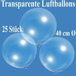 Luftballons, transparent, 40 cm, 25 Stück