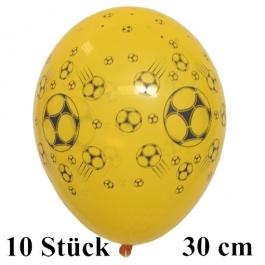 Luftballons Fußball, schwarz-gelb, 30 cm, 10 Stück