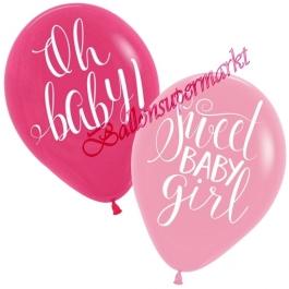 6 Stück Luftballons Floral Baby Girl