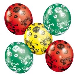 Luftballons Cars, Latexballons, 5 Stück
