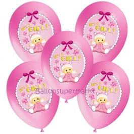 5 Stück Luftballons It's a Girl Baby