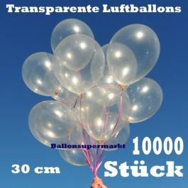 Luftballons Transparent, 30 cm, 10000 Stück
