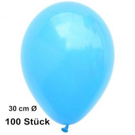 Luftballons Himmelblau, 28-30 cm, preiswert und günstig