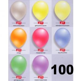 Perlmutt Luftballons 25 cm, 100 Stück