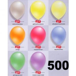 Perlmutt Luftballons 25 cm, 500 Stück