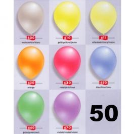 Perlmutt Luftballons 25 cm, 50 Stück