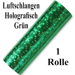 Luftschlangen Grün Holografisch Metallic