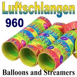 Luftschlangen Balloons and Streamers, Jumbo, 960 Rollen