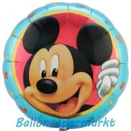 Micky Maus Portrait Folienballon, ungefüllt
