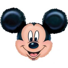 Luftballon Mickey Mouse Kopf, Folienballon mit Ballongas