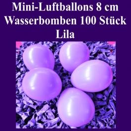 "Mini Luftballons, 8 cm, 3"", Wasserbomben, 100 Stück, Lila"