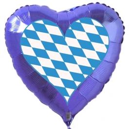 Oktoberfest Deko Luftballon, Herz bayrische Raute