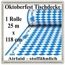 Oktoberfest Tischdecke auf Rolle, stoffähnlich, Airlaid, 25 Meter x 118 cm, stoffähnlich