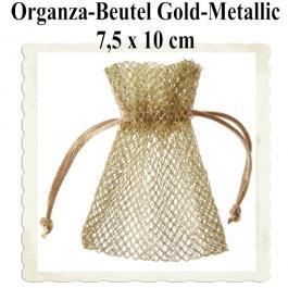 Organzabeutel Gold-Metallic für Hochzeitsmandeln