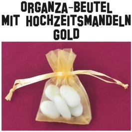 Hochzeitsmandeln Organza-Beutel Gold