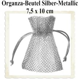 Organzabeutel Silber-Metallic für Hochzeitsmandeln
