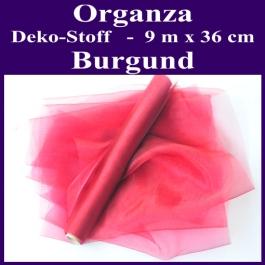 Organza Deko-Stoff, Burgund, 9 Meter x 36 cm
