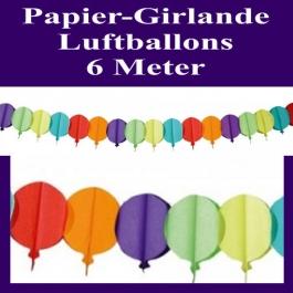Papier-Girlande-Luftballons