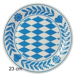 Pappteller-Oktoberfest-Dekoration-Bayrisch-Blau-23-cm