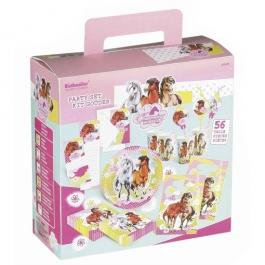 Partykoffer Pferde zum Kidergeburtstag, 56 Teile